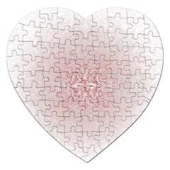 Elegant Damask Jigsaw Puzzle (heart) by ADIStyle