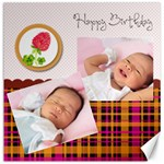 happy birthday - Canvas 16  x 16
