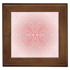 Pink Elegant Damask Framed Ceramic Tile by ADIStyle