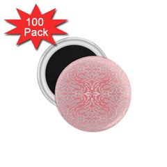 Pink Elegant Damask 1 75  Button Magnet (100 Pack)