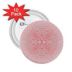 Pink Elegant Damask 2 25  Button (10 Pack) by ADIStyle