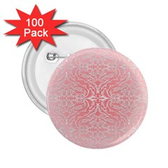 Pink Elegant Damask 2 25  Button (100 Pack) by ADIStyle