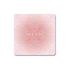 Pink Elegant Damask Magnet (square) by ADIStyle