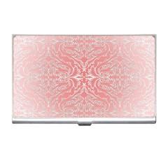 Pink Elegant Damask Business Card Holder by ADIStyle