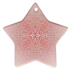 Pink Elegant Damask Star Ornament (two Sides)