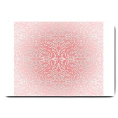 Pink Elegant Damask Large Door Mat by ADIStyle