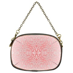 Pink Elegant Damask Chain Purse (one Side) by ADIStyle