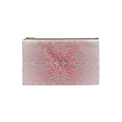 Pink Elegant Damask Cosmetic Bag (small) by ADIStyle