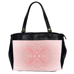 Pink Elegant Damask Oversize Office Handbag (two Sides) by ADIStyle