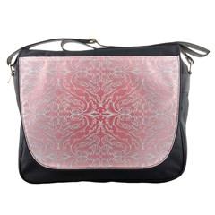 Pink Elegant Damask Messenger Bag by ADIStyle