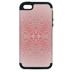 Pink Elegant Damask Apple Iphone 5 Hardshell Case (pc+silicone) by ADIStyle