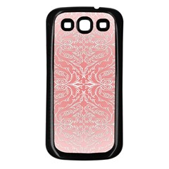 Pink Elegant Damask Samsung Galaxy S3 Back Case (black) by ADIStyle