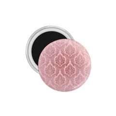 Luxury Pink Damask 1 75  Button Magnet by ADIStyle