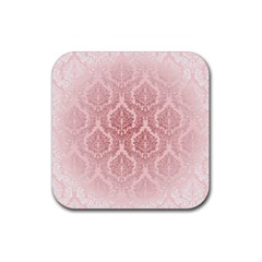 Luxury Pink Damask Drink Coaster (square) by ADIStyle