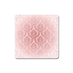Luxury Pink Damask Magnet (square) by ADIStyle