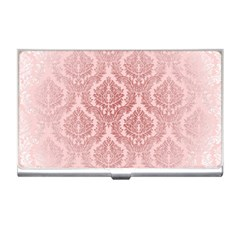Luxury Pink Damask Business Card Holder by ADIStyle