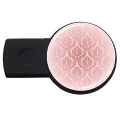 Luxury Pink Damask 2gb Usb Flash Drive (round) by ADIStyle
