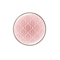 Luxury Pink Damask Golf Ball Marker (for Hat Clip) by ADIStyle