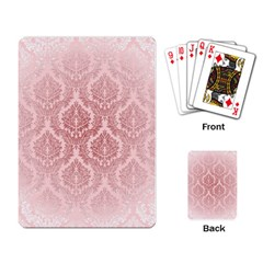 Luxury Pink Damask Playing Cards Single Design by ADIStyle