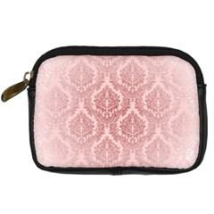 Luxury Pink Damask Digital Camera Leather Case by ADIStyle