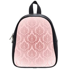 Luxury Pink Damask School Bag (small) by ADIStyle