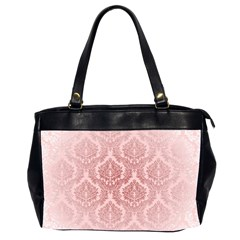 Luxury Pink Damask Oversize Office Handbag (two Sides) by ADIStyle