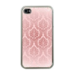 Luxury Pink Damask Apple Iphone 4 Case (clear) by ADIStyle