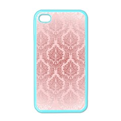 Luxury Pink Damask Apple Iphone 4 Case (color) by ADIStyle