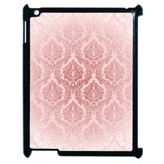 Luxury Pink Damask Apple Ipad 2 Case (black) by ADIStyle