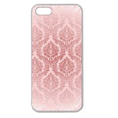 Luxury Pink Damask Apple Seamless Iphone 5 Case (clear) by ADIStyle