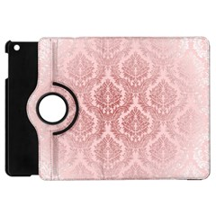 Luxury Pink Damask Apple Ipad Mini Flip 360 Case by ADIStyle