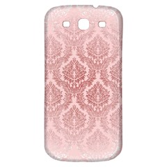 Luxury Pink Damask Samsung Galaxy S3 S Iii Classic Hardshell Back Case by ADIStyle