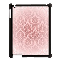 Luxury Pink Damask Apple Ipad 3/4 Case (black) by ADIStyle