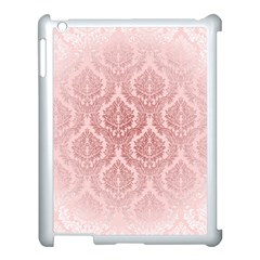 Luxury Pink Damask Apple Ipad 3/4 Case (white) by ADIStyle