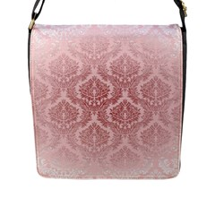 Luxury Pink Damask Flap Closure Messenger Bag (large) by ADIStyle