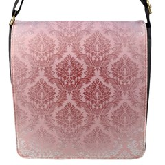 Luxury Pink Damask Flap Closure Messenger Bag (small) by ADIStyle