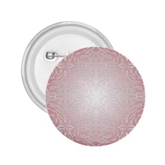 Pink Damask 2 25  Button by ADIStyle