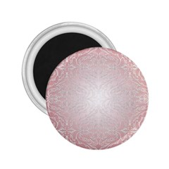 Pink Damask 2 25  Button Magnet by ADIStyle