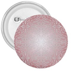 Pink Damask 3  Button by ADIStyle