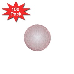 Pink Damask 1  Mini Button (100 Pack) by ADIStyle