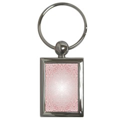 Pink Damask Key Chain (rectangle) by ADIStyle