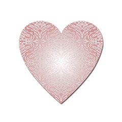Pink Damask Magnet (heart) by ADIStyle