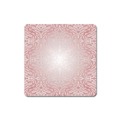 Pink Damask Magnet (square) by ADIStyle