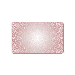 Pink Damask Magnet (name Card) by ADIStyle