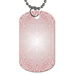 Pink Damask Dog Tag (one Sided)