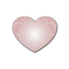 Pink Damask Drink Coasters (heart) by ADIStyle