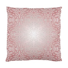 Pink Damask Cushion Case (two Sides) by ADIStyle