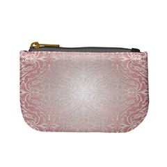 Pink Damask Coin Change Purse by ADIStyle