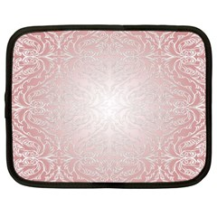 Pink Damask Netbook Case (xxl) by ADIStyle