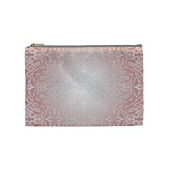 Pink Damask Cosmetic Bag (medium) by ADIStyle
